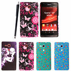 FOR SONY XPERIA SP M35H NEW STYLISH PRINTED SILICONE GEL BACK CASE COVER +STYLUS