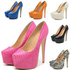 Women's Extreme Platform Pump Stilettos High Heels Wedding Dress Shoes US 4-11