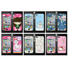 Wo Slim Front Back Clear Cartoon Screen Protector Film Cover For Iphone 4 4S (L)