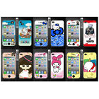 Wo Slim Front Back Clear Cartoon Screen Protector Film Cover For Iphone 4 4S (H)