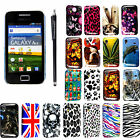 For Samsung Galaxy Ace S5830 Stylish Printed Hard Shell Back Case Cover + Stylus