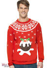 "FANCY DRESS COSTUME # ADULT LIGHT UP CHRISTMAS PUDDING JUMPER SIZES 38""-40"""