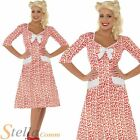 Ladies WW2 Sweetheart Fancy Dress Costume 1920s 30s 40s Wartime Outfit Size 8-18