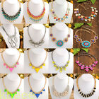 Vintage Women Lady Bubble Bib Statement Necklace Chunky Collar Party HOT Fashion