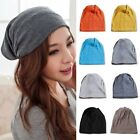 Unisex Ladies Men Cotton Slouchy Beret Plain Baggy Hat Rasta Beanie Cap Hot Sell