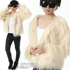 RTBU Punk Boho Chic Vegan Faux Shearing Fur Furry Gorilla Raglan Jacket Coat