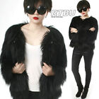 RTBU Punk Rock Star Shaggy Shearing Faux Fur Furry Gorilla Jacket Coat Celebrity