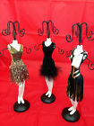 1920s Art-Deco Style Jewellery Necklace Mannequin Display Stand Black Gold Dress