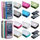 For Apple iPhone 5 5S Hybrid Transparent Ultra-thin TPU Skin Case Cover + Film