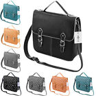 Ladies Womens Boutique Faux Leather Satchel Cross Body Shoulder Handbag Bag Ne