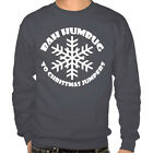 Dark Grey Bah Humbug to Christmas Jumper Grumpy Nordic Sweater Gift Idea