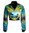 Leopard Print Womens Bomber Jacket UK 10 12 US 6 8 EU 36 38 Versace H&M BNWT New