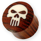 PUNISHER HOLZ PLUG Marvel Comic Flesh Tunnel horn bone emo rockabilly punk rock
