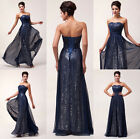 Bead Sexy Women Chiffon Ball Formal Cocktail Gowns Evening Prom Party Long Dress