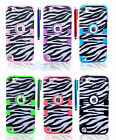 Black Zebra Tough Protective Heavy Duty Case for Apple iPod Touch 5 Impact Cover