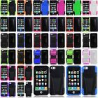 For Apple iPhone 5C 5S Dual Layer Hybrid Hard Silicone Case Cover with Stand