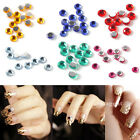 1800pcs 2mm Color Glitter Nail Art Rhinestones Diamond Tips Decoration Gems DIY