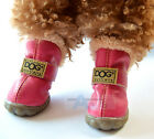 Dog Boot Waterproof Anti-Slip Pet Puppy Shoes Boot Classic Warm Dog Shoes Rose