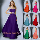 New Long Chiffon Prom Party Ball Gown Formal Evening Bridesmaid Dress Size 6-26