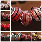 10pcs Glass Loose Silver Big Hole Lampwork Beads Fit European Charm Bracelet