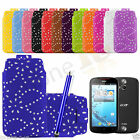 PU Leather Diamond Glitter Pull Tab Case Cover For Acer Liquid E2 & Big Pen