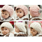 Wo Baby Girl Boy Toddler Kid Winter Warm Knitted Crochet Beanie Beret Hat Cap