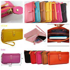 1pc Lady Synthetic Leather Zip Wallet Card Pouch Handbag Purse Clutch Wrist Bag