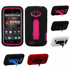 zte savvy cover - for ZTE Savvy Z750C Impact Hybrid Durable Layer Kick Stand Cell Phone Case Cover
