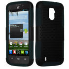 For ZTE Majesty 796C MESH Hybrid Silicone Rubber Skin Case Phone Cover Accessory