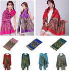 Noble Long Warm Soft Jacquard Paisley Shawl Stole Scarves Wraps Pashmina Tassels