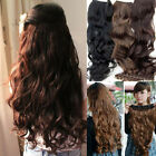 Women's Fashion Full Head Clip Curly/Wavy Synthetic Hair Extension Extensions