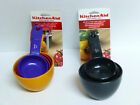 KITCHEN AID MEASURING CUPS IN BLACK OR ASSORTED COLORS SOFT HANDLE  SECURE GRIP