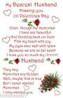 A+ Valentine Bereavement Grave Memorial Keepsake choose Husband Wife or Partner