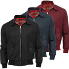 Mens Raiken Classic Retro Style Bomber Harrington Jacket Scooter 70sVintage Coat