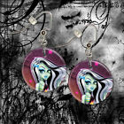 "**FRANKIE STEIN** Monster High 1"" Button Dangle Earrings *FREE PIN* ~~USA Seller"