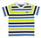 Ecko Unltd Toddler Boys S/S Striped White & Lime V-Neck Top Size 2T 3T 4T $28