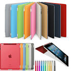 Fits New Apple iPad 2 iPad 3 4 Ultra Thin Magnetic Smart Case Cover + Back Case