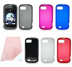 For ZTE Fury N850 ZTE Valet Z665C Cover TPU Candy Rubber Case + Screen Protector