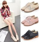 Womens 2014 Spring New Lace Up Round Toe Low Heel Casual Oxfords Shoes 8752
