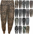 New Womens Plus Size Printed Pattern Ladies Full Long Harem Pants Trousers 12-26