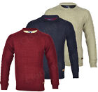H6 Men's Cable Knit Crew Neck  Jumper Sweater Knitted Top  Winter