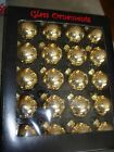 GLASS BALL ORNAMENTS 11/2 INCHES WIDE GOLD OR SILVER
