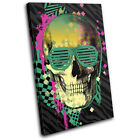 Skull Abstract Illustration SINGLE CANVAS WALL ART Picture Print VA