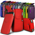 Magnetic PU Leather Pull tab Pouch Case & Stylus Fits For Nokia Mobile Phones