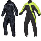 Black Beacon Waterproof Motorbike Motorcycle One Piece Full Body Rain Over Suit