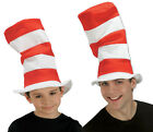Cat in a Hat Red & White Striped Felt Top Hat Adult or Childs Fancy Dress