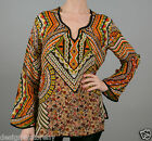 Tolani Lolita Silk Printed Tunic Blouse Top in Sand 8555
