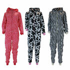 J12 LADIES FUN NOVELTY ANIMAL DESIGN PYJAMA LONG SLEEVE FLEECE WARM NIGHT WEAR