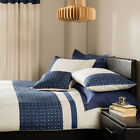 Catherine Lansfield Home Geneva Embroidered Duvet Cover Set, Navy