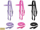 Tahoe Double Layer Nylon Horse Headstall Matching Reins at Wholesale Price